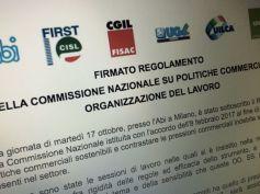 Regolamento Commissione nazionale organizzazione lavoro, comunicato unitario