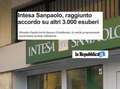 """La Repubblica, First Cisl, Intesa, """"tappa importante integrazione ex venete"""""""