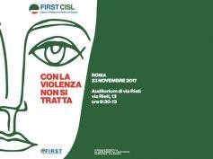 23 novembre 2017, a Roma il convegno First Cisl sulla violenza di genere