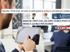 Banche in crisi, persi 10 mila posti, la ricerca di First Cisl sul web