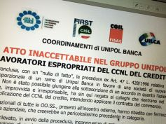 """Unipol Banca, """"lavoratori espropriati del ccnl del credito"""""""