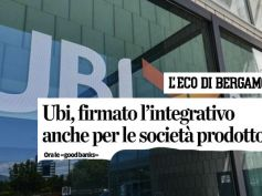 Ubi, First Cisl su L'Eco di Bergamo, contratto a società prodotto ora good bank