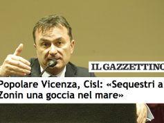 Il Gazzettino, sequestro BpVi, politica spieghi perché non ha frenato compensi
