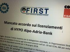 Hypo Bank, mancato accordo sui licenziamenti