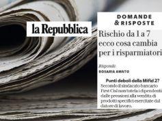 La Repubblica, punti deboli della Mifid 2, non tutela lavoratori da pressioni