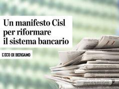 AdessoBanca!, L'Eco di Bergamo, per una riforma sociale delle banche