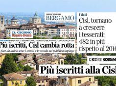 A Bergamo cresce la voglia di Cisl, ne parla la stampa locale