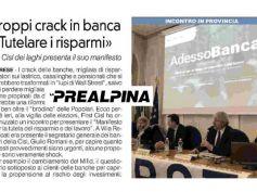 AdessoBanca! approda a Varese, Romani rilancia centrale Mifid su La Prealpina