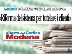 Il Resto del Carlino, AdessoBanca! a Modena richiama l'interesse dei cittadini
