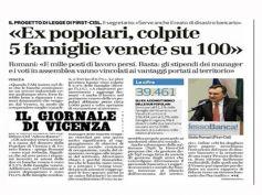 AdessoBanca!, Il Giornale di Vicenza, in Veneto bruciati risparmio e lavoro