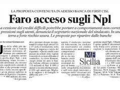 AdessoBanca! a Palermo, Milano Finanza, le banche schiacciate dagli Npl