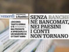 Il Venerdì di Repubblica, senza filiali torna il materasso, rapporto First Cisl