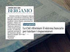 AdessoBanca! Corsera Bergamo, Cisl e First Cisl propongono, la politica aspetta