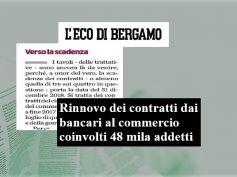 L'Eco di Bergamo, contratti in scadenza, in provincia interessati 7mila bancari