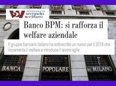 Banco Bpm, First Cisl, con il nuovo accordo più welfare per i 25mila dipendenti
