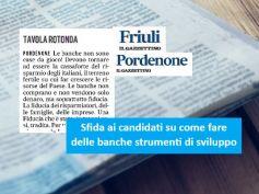 Il Gazzettino, AdessoBanca! a Pordenone, i candidati si confrontano