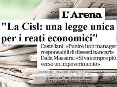 L'Arena, AdessoBanca! a Verona, per i reati economici serve una legge