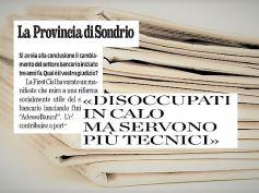 La Provincia di Sondrio, Valtellina e occupati, AdessoBanca! cambia il credito