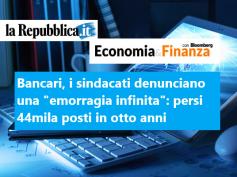 La Repubblica, studio First Cisl banche, Romani, rilancio occupazione priorità