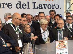 Primo maggio, Cgil Cisl e Uil a Prato, Furlan, non si può morire di lavoro