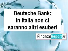 In Deutsche Bank stop agli esuberi, solo 222 uscite volontarie