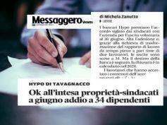 Messaggero Veneto, Hipo Bank, First Cisl, sull'accordo l'ok dei lavoratori