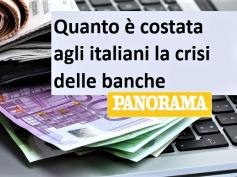 Panorama, studio First Cisl, banche, crisi e costi, tanti bonus e poche multe