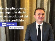 Rai Radio 1, Gr1 Economia, Romani e crisi banche, bonus alti, sanzioni basse
