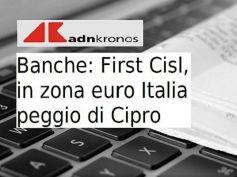 Studio First Cisl, Romani, imprese e banche, Cipro meglio dell'Italia