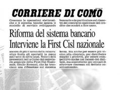 Corriere di Como, Romani, nuovo contratto occasione per rivedere sistema banche