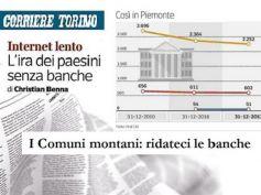 Corriere Torino, comuni montani con First Cisl protestano per chiusure filiali