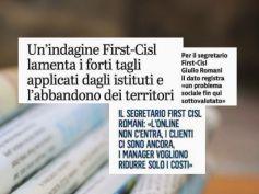 Studio First Cisl, giornali regionali, da Nord a Sud crescono le filiali chiuse