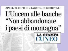 La Stampa, in Piemonte dilaga la protesta per le chiusure delle filiali