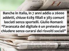 Studio First Cisl su banche in Italia, grande risalto della stampa nazionale