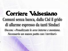 Corriere Valsesiano, banche chiuse, Sindaci e First Cisl, è allarme sociale