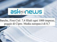 Studio First Cisl, Romani, per le imprese più sportelli a Cipro che in Italia