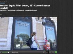 La ricerca di First Cisl sul trend delle filiali bancarie, il video dell'Ansa