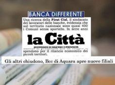 Studio First Cisl banche, Bcc di Aquara non chiude anzi apre nuove filiali