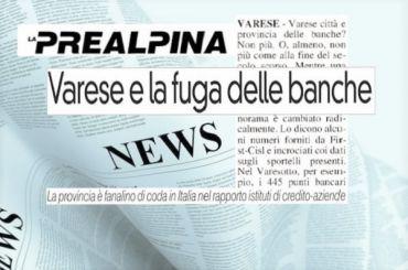La Prealpina, studio First Cisl, emorragia sportelli anche a Varese e provincia