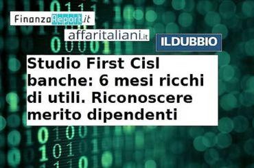 Studio First Cisl, Romani, utili banche dicono che dipendenti insostituibili