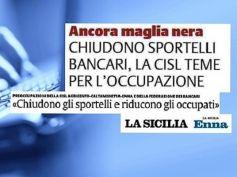 La Sicilia, studio First Cisl banche, senza sportelli disagi e fine del lavoro