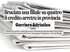 Corriere Adriatico, studio First Cisl banche, credito scarso, solo depositi