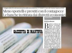 Gazzetta di Mantova, studio First Cisl, no credito per i distretti economici