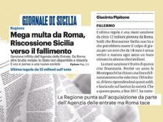 Mega multa piega Riscossione Sicilia, First Cisl, evitare il fallimento