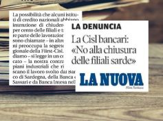 Sardegna, First Cisl, banche a rischio chiusura, vigilare sui piani industriali