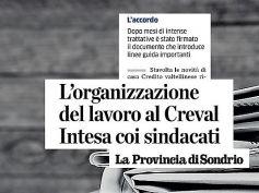 La Provincia di Sondrio, Creval, First Cisl, accordo per clienti e lavoratori