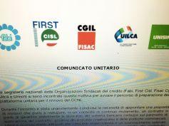 Avviato percorso preparazione piattaforma unitaria rinnovo CCNL credito
