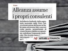 AF Repubblica, Alleanza assume i consulenti, First Cisl, lavoro stabilizzato
