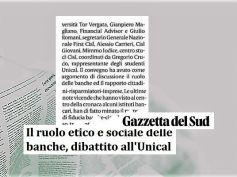 Gazzetta del Sud, ruolo etico e sociale delle banche come recuperare fiducia