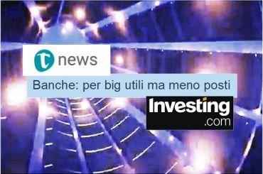 Studio First Cisl, Tiscali e Investing, banche, per le big utili ma meno posti